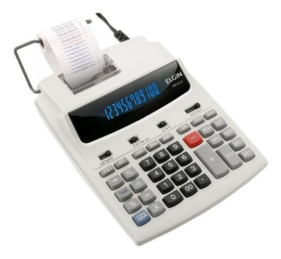 Calculadora Impressão C/ Visor Bonina 12 Dígitos Cinza Elgin