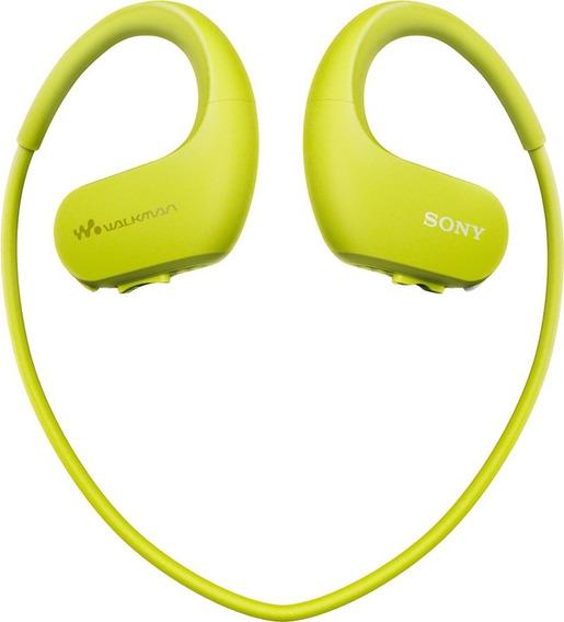 Fones De Ouvido Sony Walkman Nw-ws413 4gb - Verde Claro