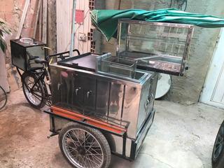 Carrito Comida Rapida Con Bicicleta (freidora, Plancha)
