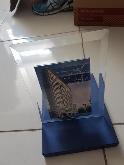 Porta Retrato De Vidro Com As Pontas Trabalhadas 16x21
