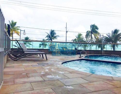 Imagem 1 de 23 de Apartamento Com 3 Dormitórios, 3 Suítes, Lazer Completo,  À Venda, 173 M² Por R$ 750.000 - Campo Da Aviação - Praia Grande/sp - T3a102a - Ap0071