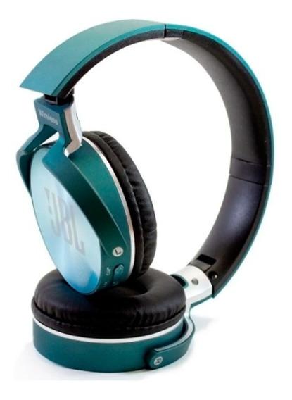 Fone De Ouvido Bluethooth Sem Fio Rádio Mp3 Azul