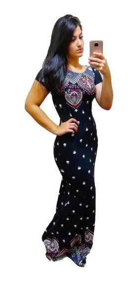 Vestido Sereia Evangélica Estampas Lindas 8033