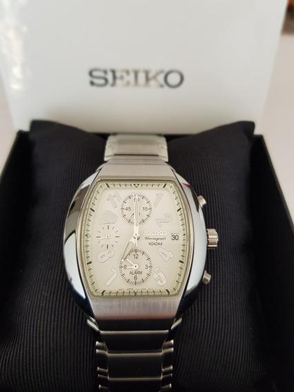 Relógio Masculino Seiko Chronograph Calendário Novo Na Caixa