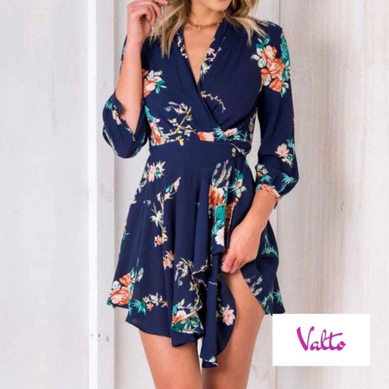 Vestido Casual Corto - Flores - Dama - Talla S