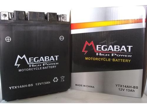 Imagen 1 de 1 de Batería Motos Megabat Ytx14 Ah Bs Cuatri Moto De Agua