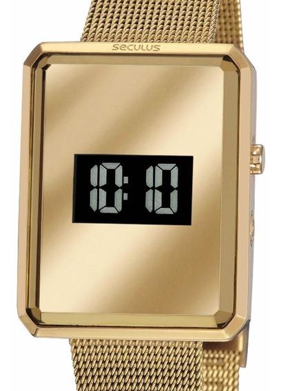 Relógio Seculus Digital Feminino Original 77061lpsvds4 Dourado C/ Nf-e