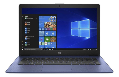 "Laptop HP Stream 14-CB171WM azul 14"", Intel Celeron N4000  4GB de RAM 64GB SSD, Intel HD Graphics 600 1366x768px Windows 10 Home"