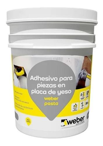 Imagen 1 de 6 de Pasta Pegamento Ceramica Sobre Placa De Yeso 7 Kg Weber - Mm