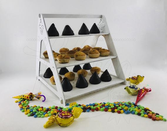 Porta Cupcakes Escalera 3 Escalones Fibrofacil Candy Bar