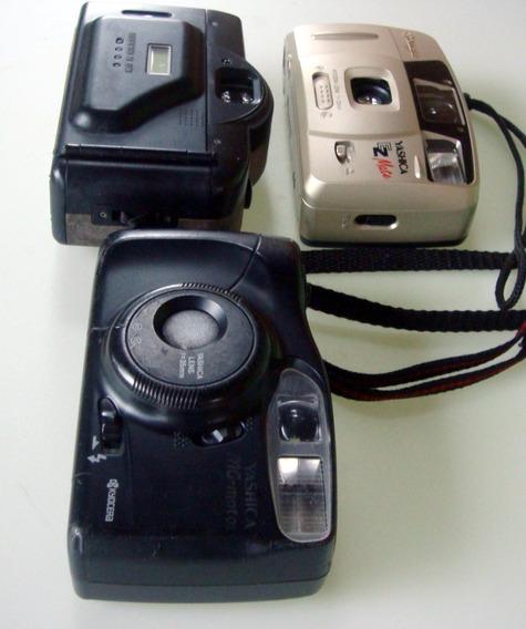 Lote 3 Cameras Fotograficas Antigas Retrô Yashica/mitsuca