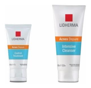 Kit Acne Gel Limpieza + Crema Lidherma