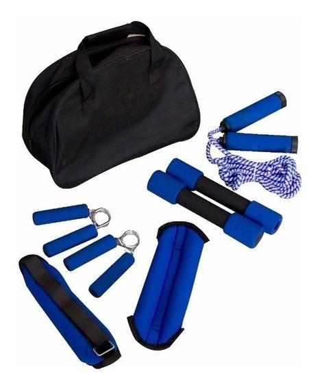 Kit Aeróbico Con Pesas Y Lazo Sport Fitness
