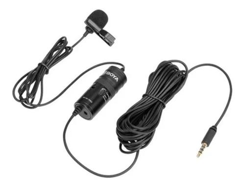 Imagem 1 de 6 de Microfone Boya By-m1 Pro Lapela P/ Câmera Dslr Vlog