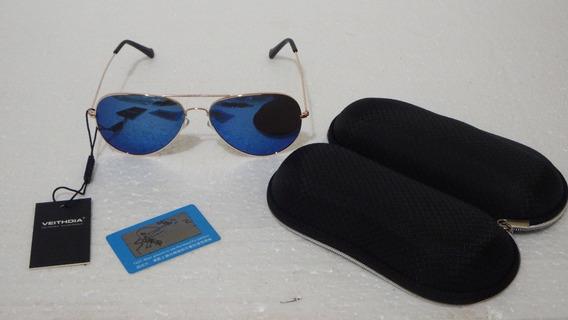 Oculos Veithdia Polarizado Uv Masc/feminino Aviador Original