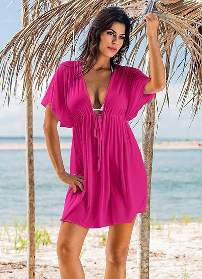 Kit 4 Vestidos Saídas De Praia Plus Size Moda Feminina.