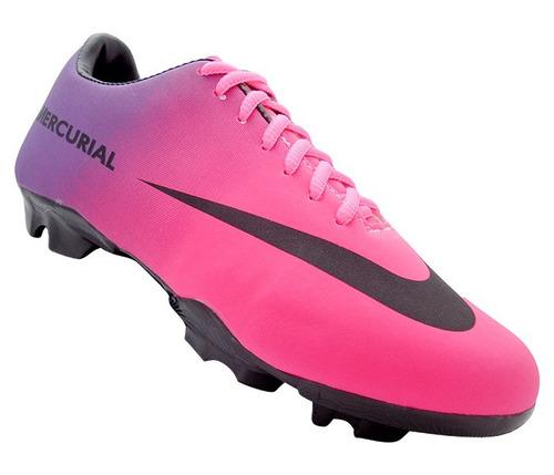 9ee0e3cc1825a Chuteira Nike Mercurial Rosa Campo - Chuteiras Nike de Campo para ...