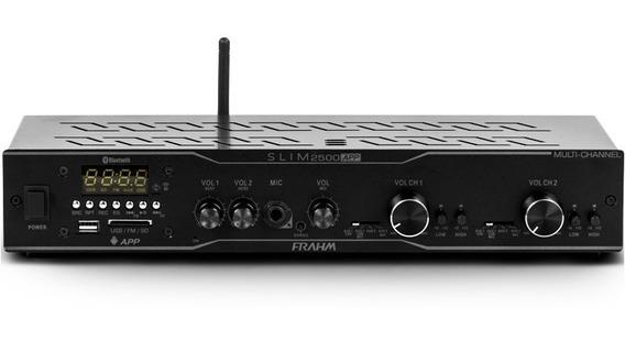 Amplificador Receiver Usb Bluetooth Som Ambiente Frahm 2500