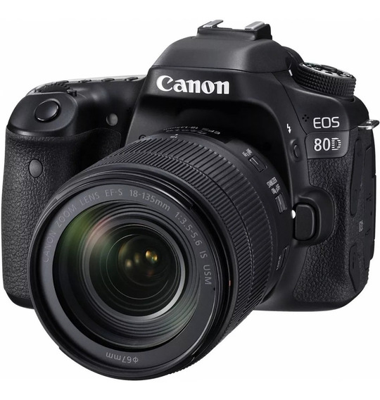 Câmera Canon 80d - Lente 18-135mm + 50mm E Cartão Sd 32 Gb