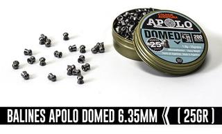 Balin Apolo Domed 6.35mm- 25 Greins -nuevo Modelo.
