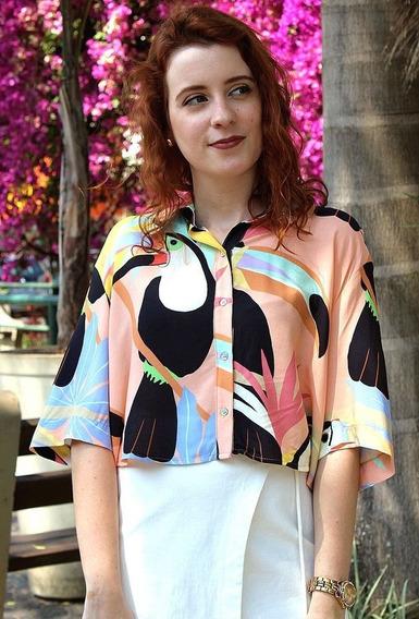 Farm Camisa Cropped Frescor De Tucanos