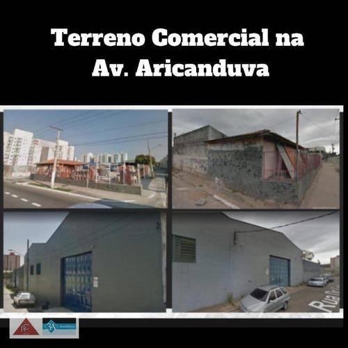 Terreno Para Alugar, 1600 M² Por R$ 70.000/mês - Vila Aricanduva - São Paulo/sp - Te0148