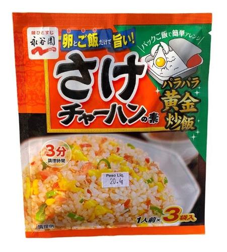 Imagem 1 de 1 de Tempero Chahan Sake Salmão 3px6,8g Nagatanien Japão