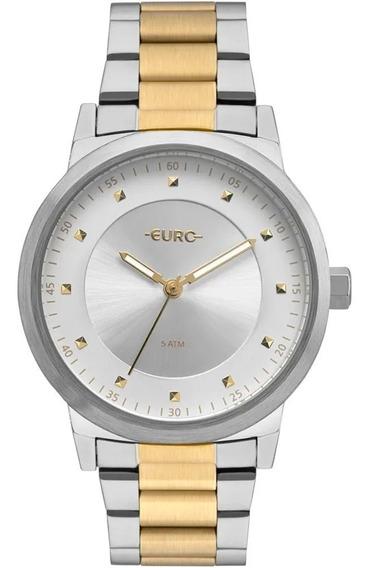 Relógio Feminino Euro Mod 2036ynr/5k Prata / Dourado - Nf