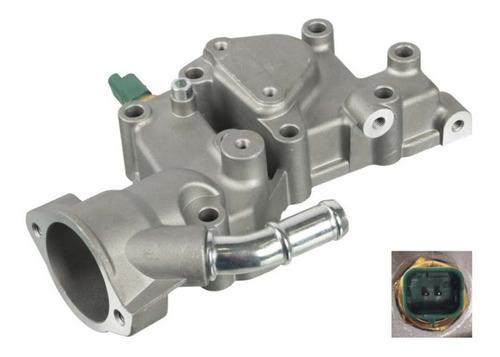 Imagem 1 de 2 de Carcaça Valvula Termostatica Com Sensor Peugeot 206 1.1 8v