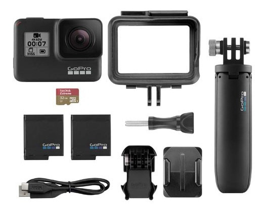 Câmera Digital Gopro Hero7 Black 12mp Bateria Extra Sd 32gb