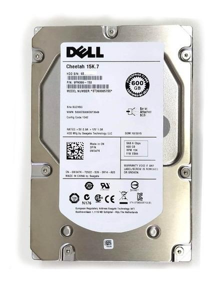 Hd Dell 600gb W347k 15k7 St3600057ss Sas + Gaveta F238f - Zero Hora R720 R710 R410 T410 T420 C/ Nf
