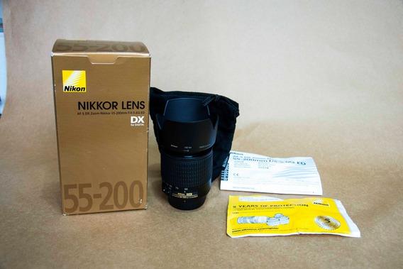 Lente Nikon 55-200 Mm Dx F4-5.6 Ed Para Cameras Apsc Ou Dx