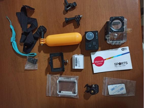 Câmera Sjcam Sj5000 Wi-fi Com Cadê E Acessórios.