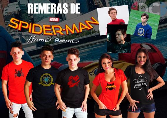 Remera De Comics Spiderman Homecoming 5 Con Envio Gratis