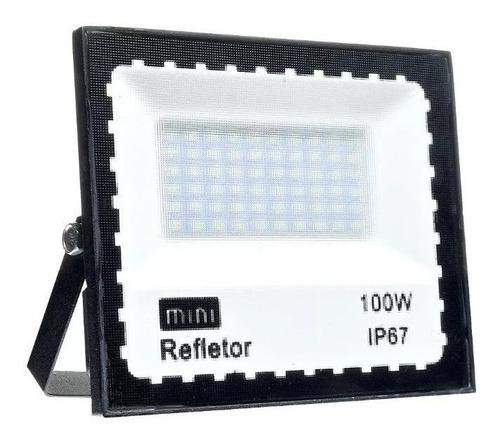 Holofote Refletor Led 100w Smd Bivolt Ip66 Externo Premium