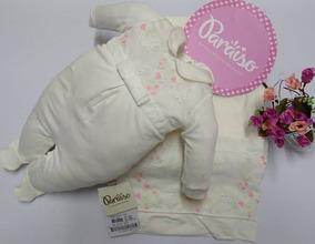 Saida Maternidade Paraiso Bebê Menina Macacao Off White 7979