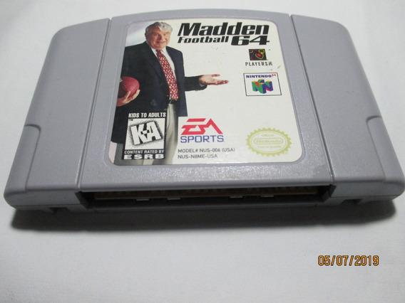 Madden Football 64 P/nintendo 64 (ler Descrição)