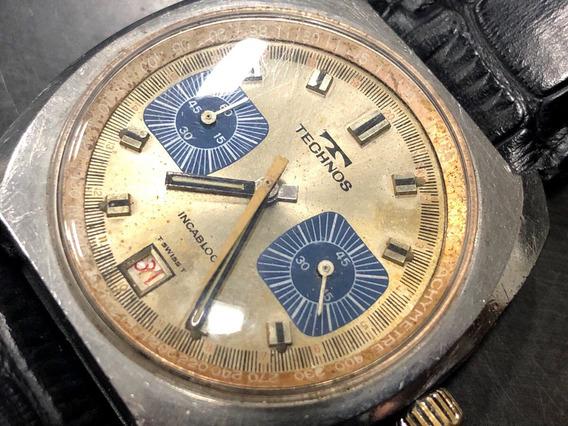 Technos Chronograph Valjoux 7734 Funciona Mas Precisa Reparo