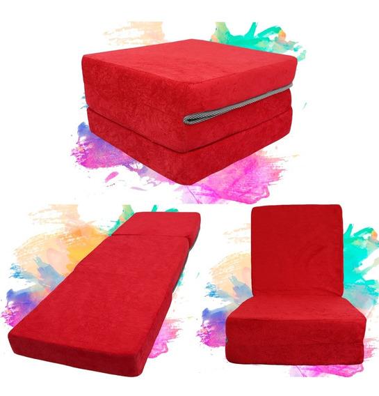 Puff Solteiro Multiuso 3x1 D20 - Sem Travesseiro