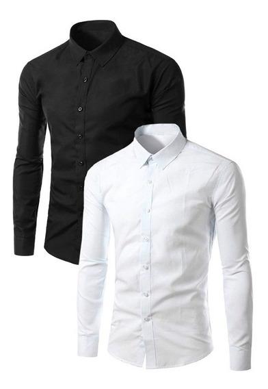 Camisa Social Masculino Lançamento Social Masculino + Barato
