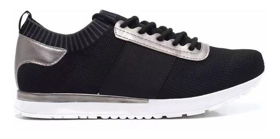 Zapatillas Mujer Negra Vía Marte 17-16201 Importadas