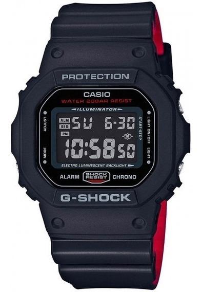 Relógio G-shock Dw5600hr Preto Vermelho Clássico Lançamento