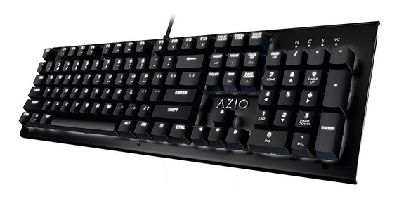 Teclado Mecanico Gamer Azio Mk Hue Cherry Brown Ingles Negro