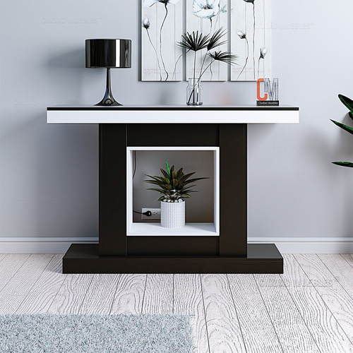Mesa Recibidora De Arrime Moderna, Elegante. 120cm De Largo