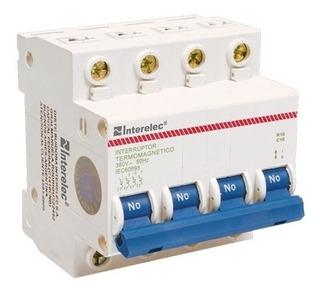 Llave Termica Termomagnetica Interelec 4 X 20a X 3 Unidades