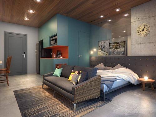 Imagem 1 de 9 de Studio Centro, 1 Dorm. 1 Suíte, 1 Vaga, Lazer Completo - St0127