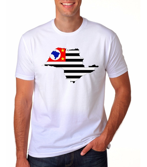 Camiseta Eu Amo São Paulo Orgulho Paulista Bandeira G1 3056