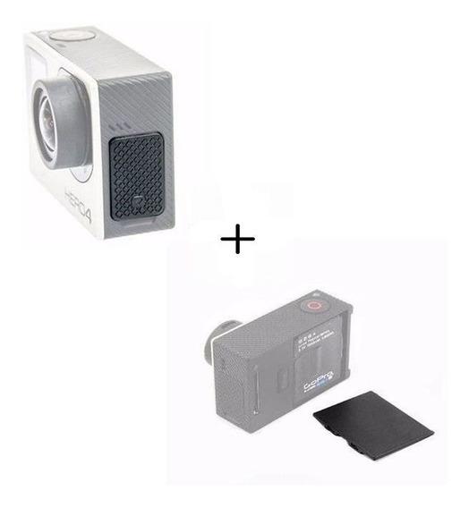 Kit 2 Pçs Tampas Para Gopro Bateria + Usb Gopro Hero 3 3+ 4