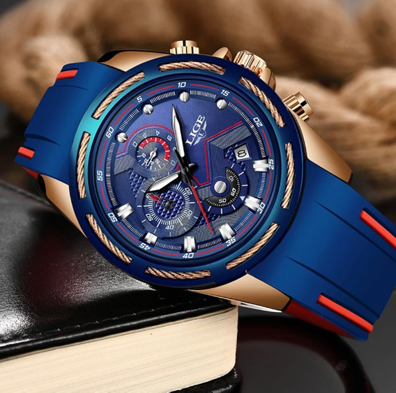Promoção Relógio Silicone Lige Marca De Luxo Quartzo.