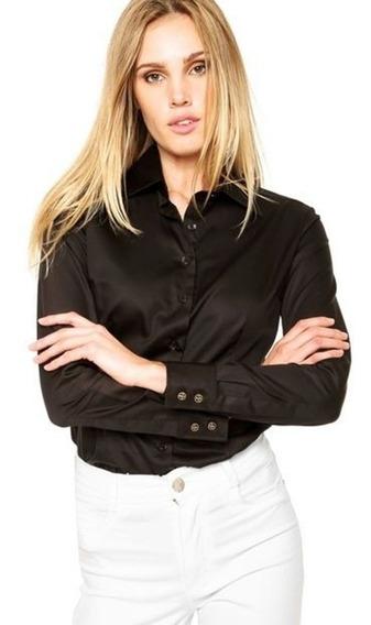 Camisa Social Feminina Dudalina - Preta